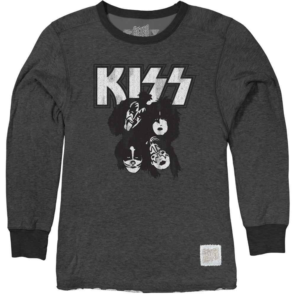 KISS Vintage Heather Pullover Crew