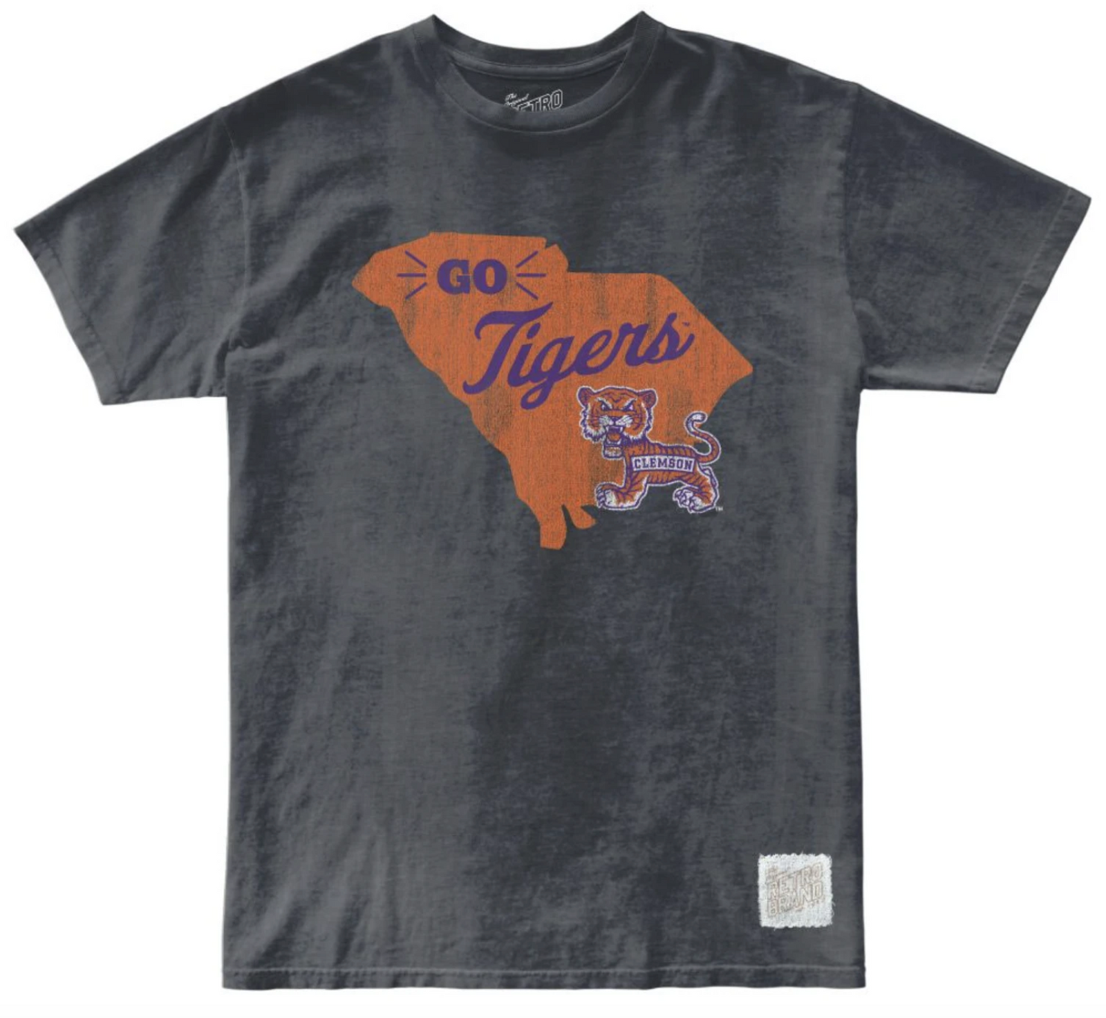 Clemson Tigers Oil Wash Unisex Tee