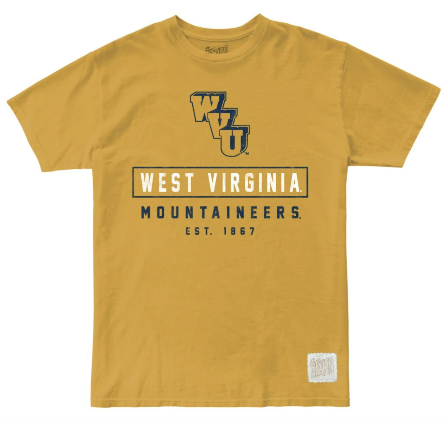 West Virginia Mountaineers 100% Cotton Unisex Tee