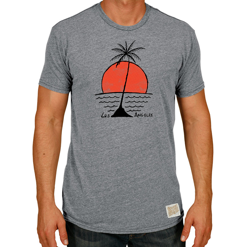 Lone Palm Sunset Tri-blend crew tee