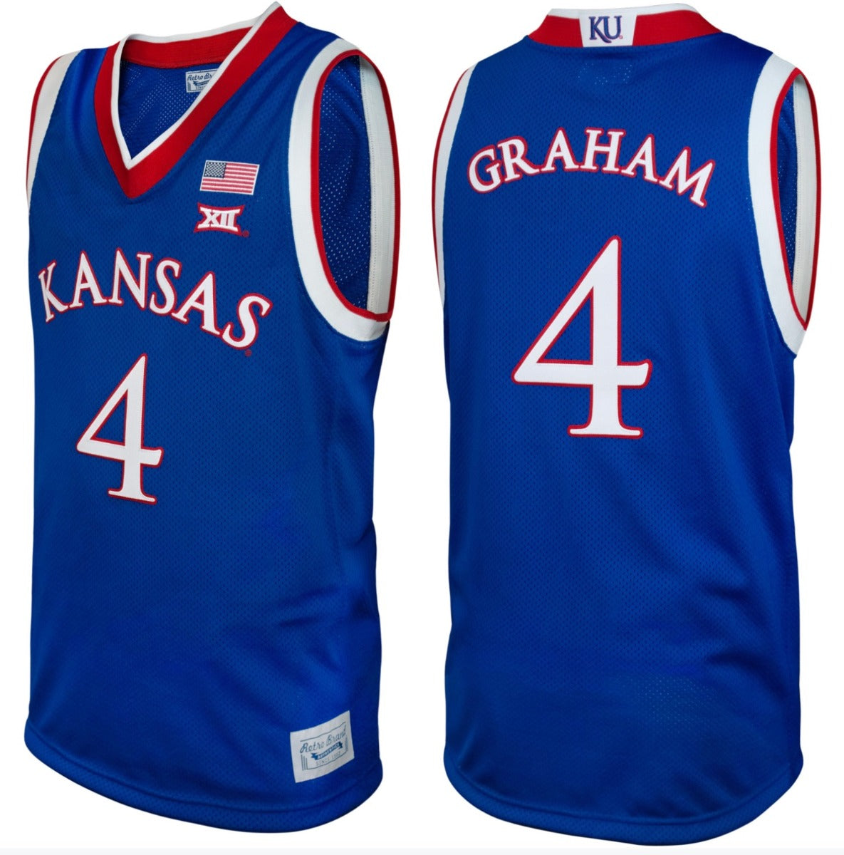 Kansas Jayhawks Devonte' Graham Throwback Jersey