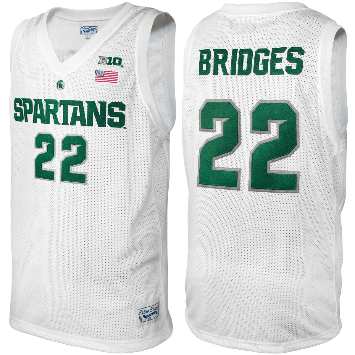 Michigan State Spartans Miles Bridges Throwback Jersey