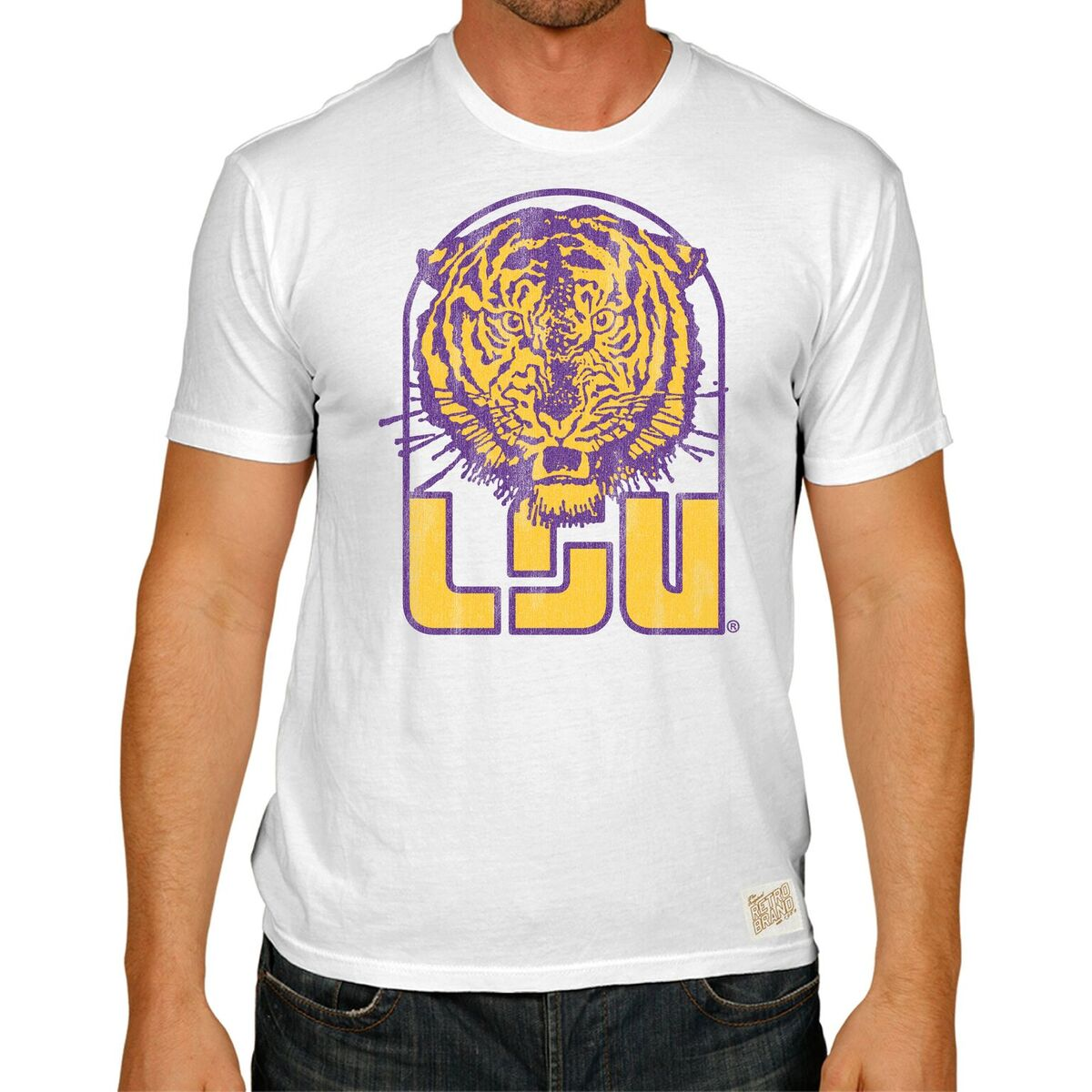 LSU Tigers Men's Short Sleeve Vintage Tee