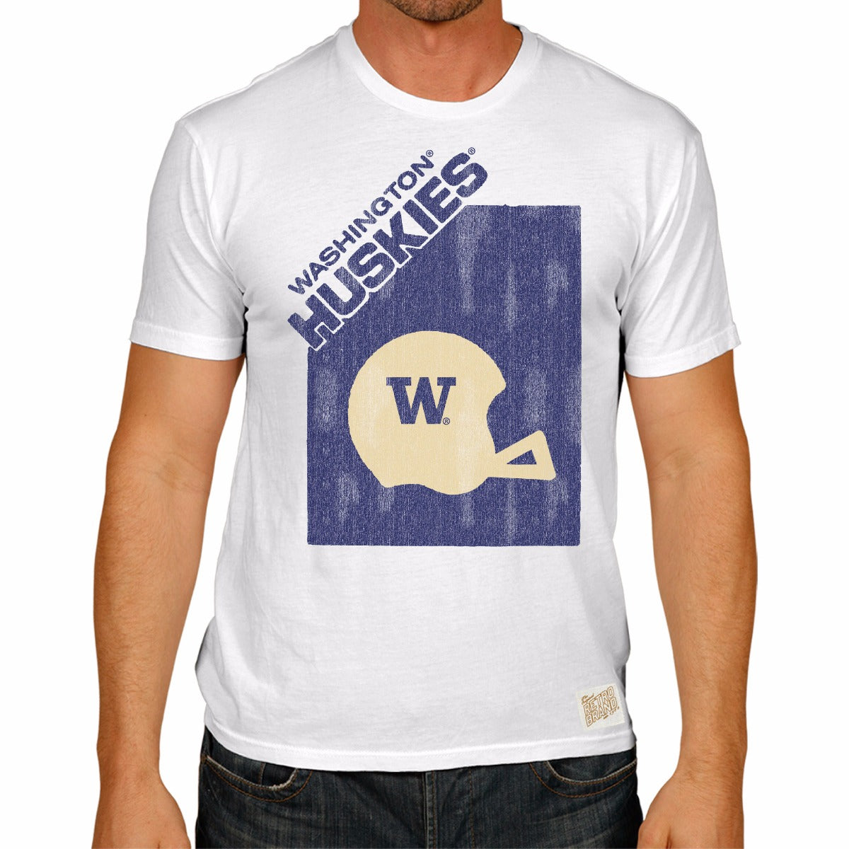 Washington Huskies Men's Short Sleeve Vintage Tee