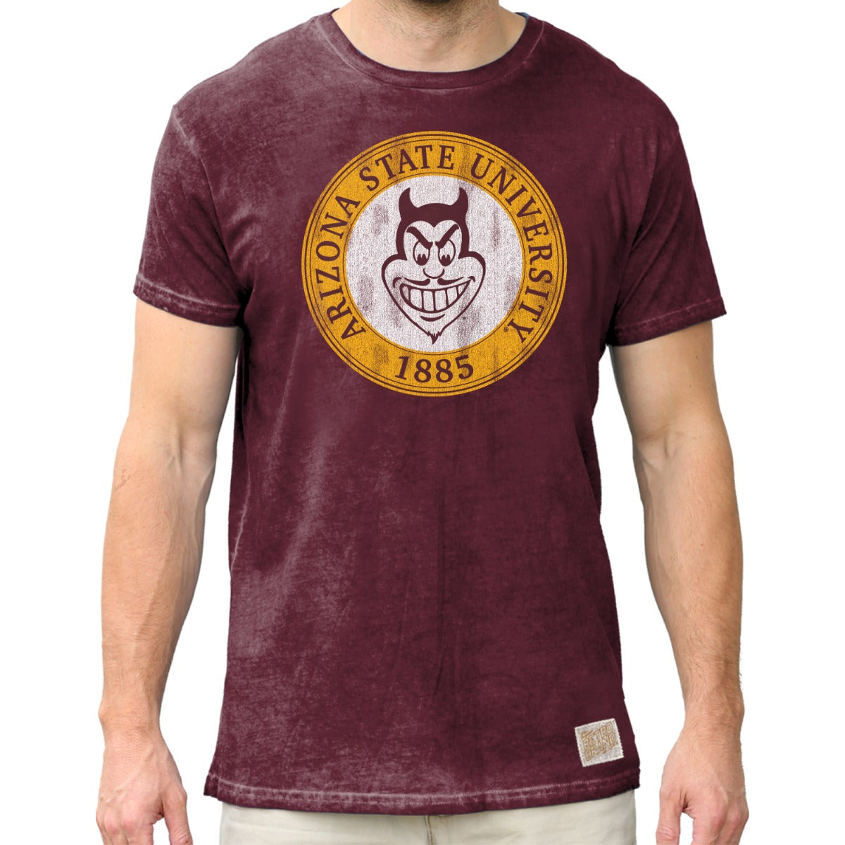 Arizona State 100% Cotton Oil Wash Unisex Tee