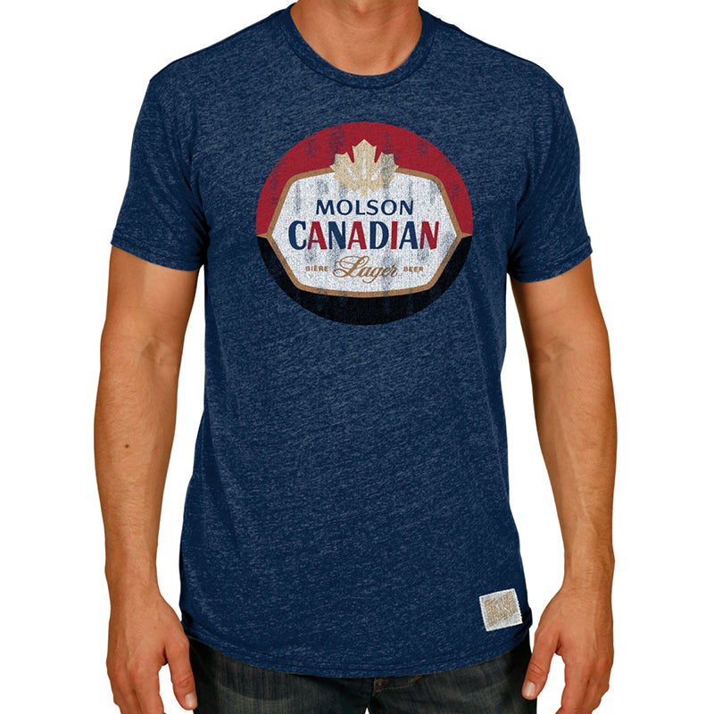 Vintage Molson Canadian Tri-blend crew tee