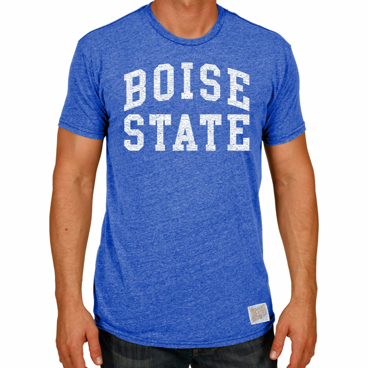 Boise State Broncos Men's Short Sleeve Triblend Tee