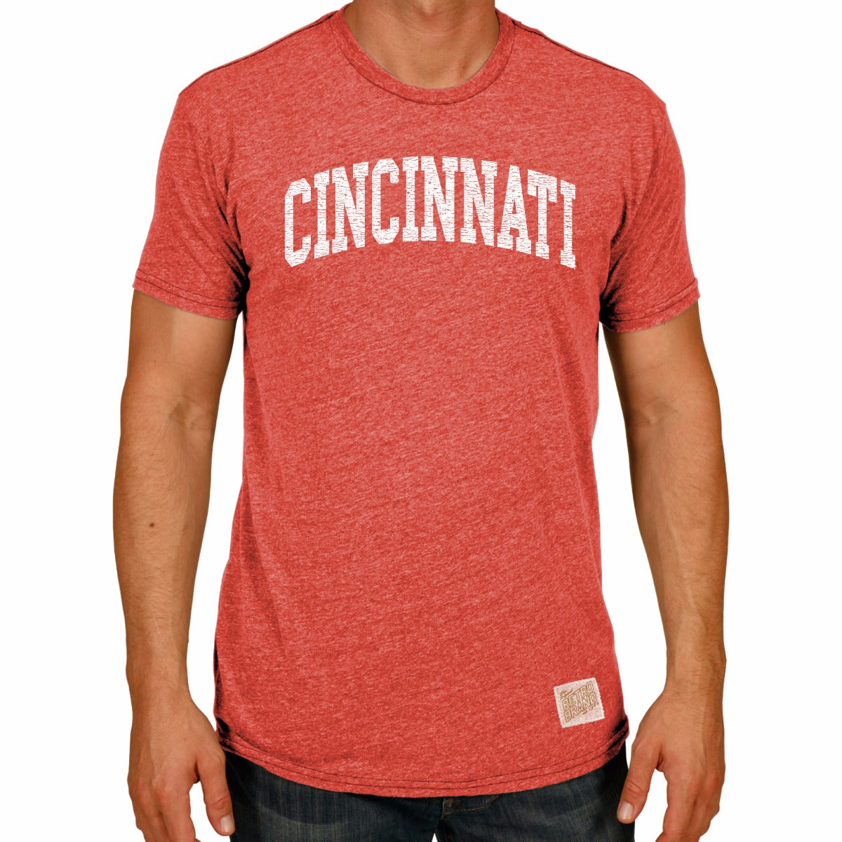 Cincinnati Bearcats Men's Short Sleeve Triblend Tee