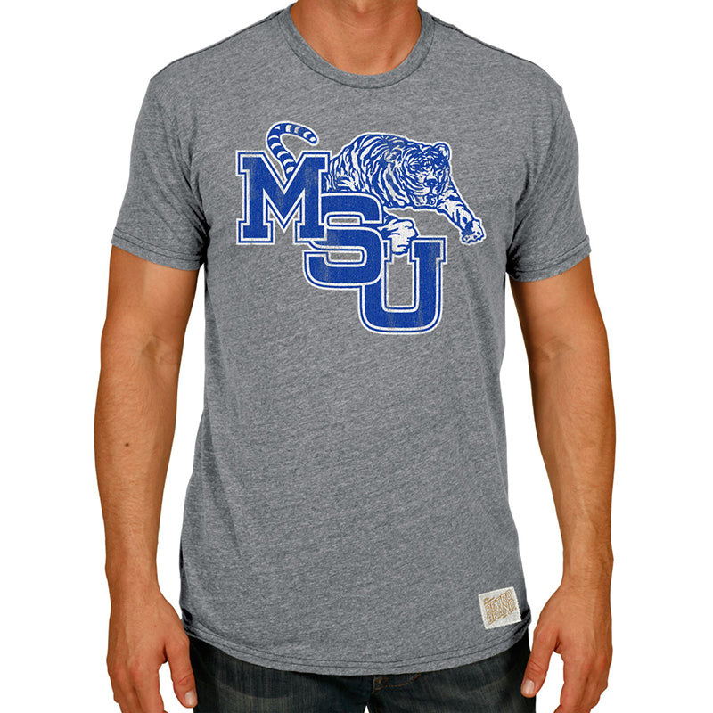 Memphis Tigers Men's Tri-Blend crew tee