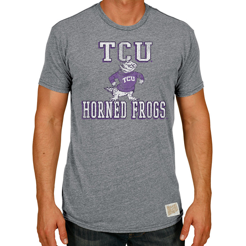 TCU Horned Frogs Tri-blend crew tee