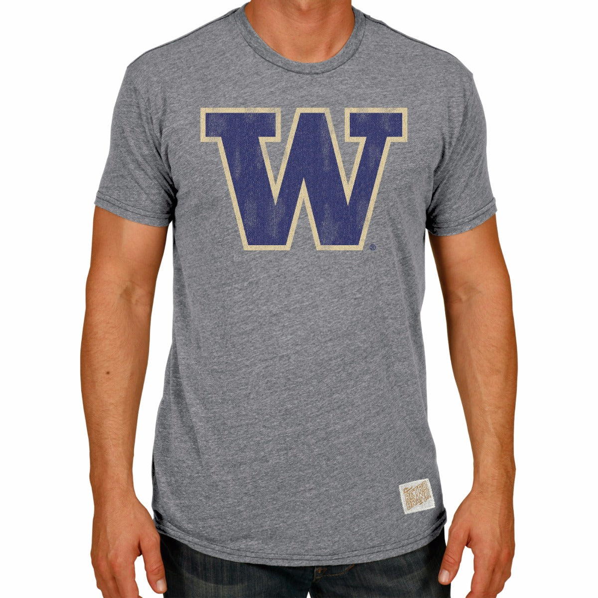 Washington Huskies Men's Short Sleeve Triblend Tee