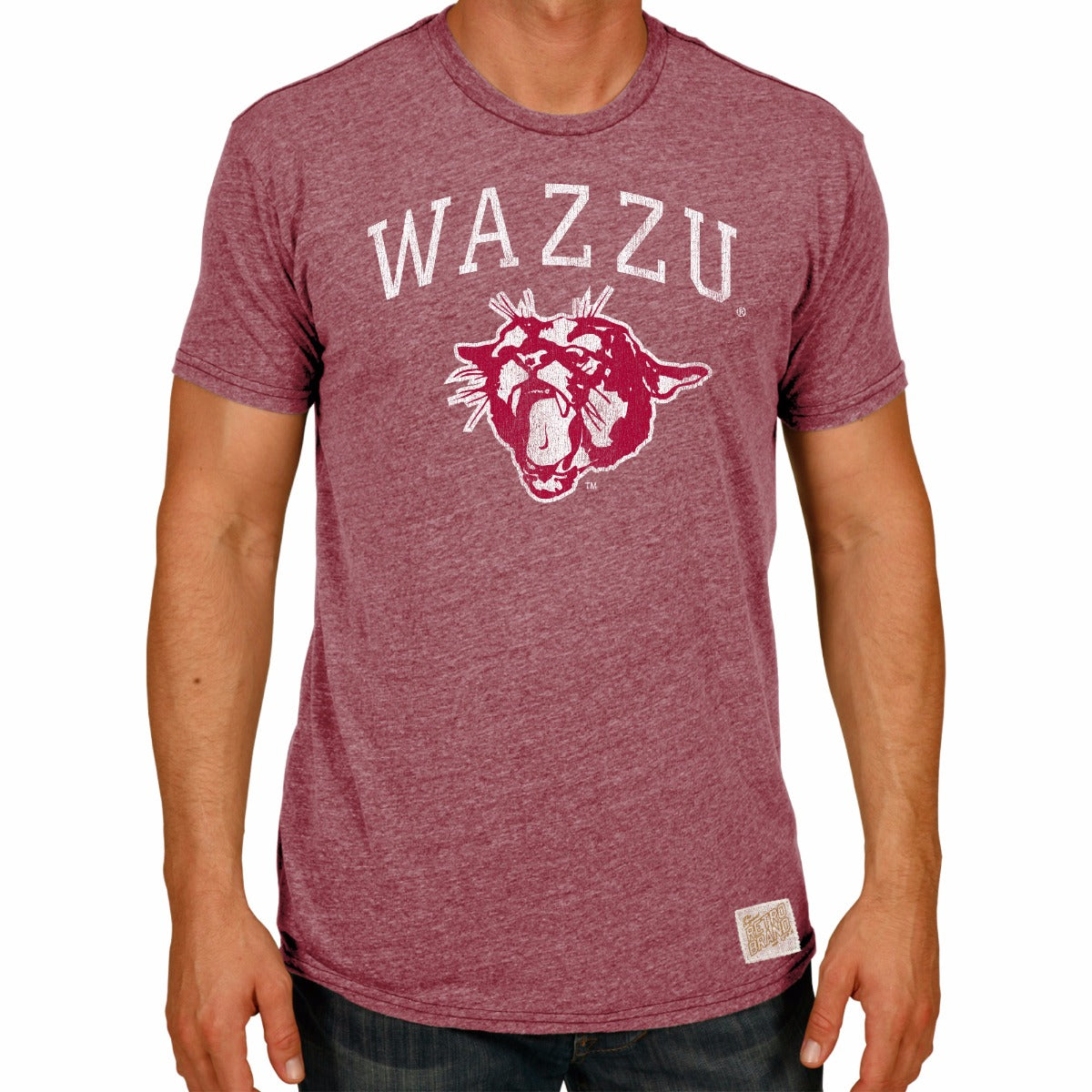 Washington State Cougars Men's Short Sleeve Triblend Tee