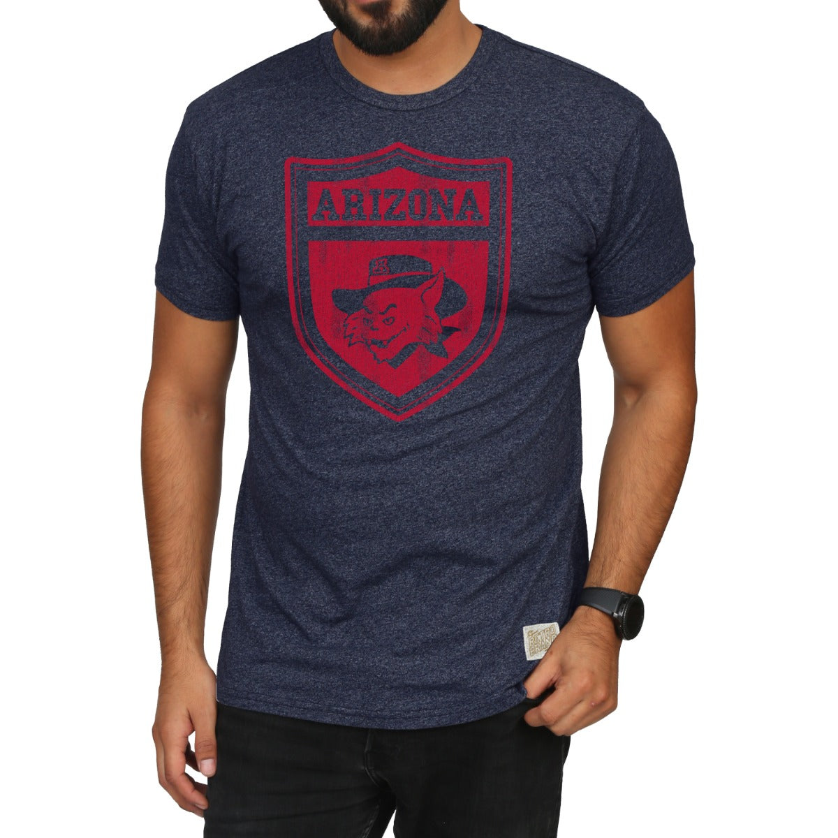 Arizona Wildcats Tri-Blend Mock Twist Unisex Tee