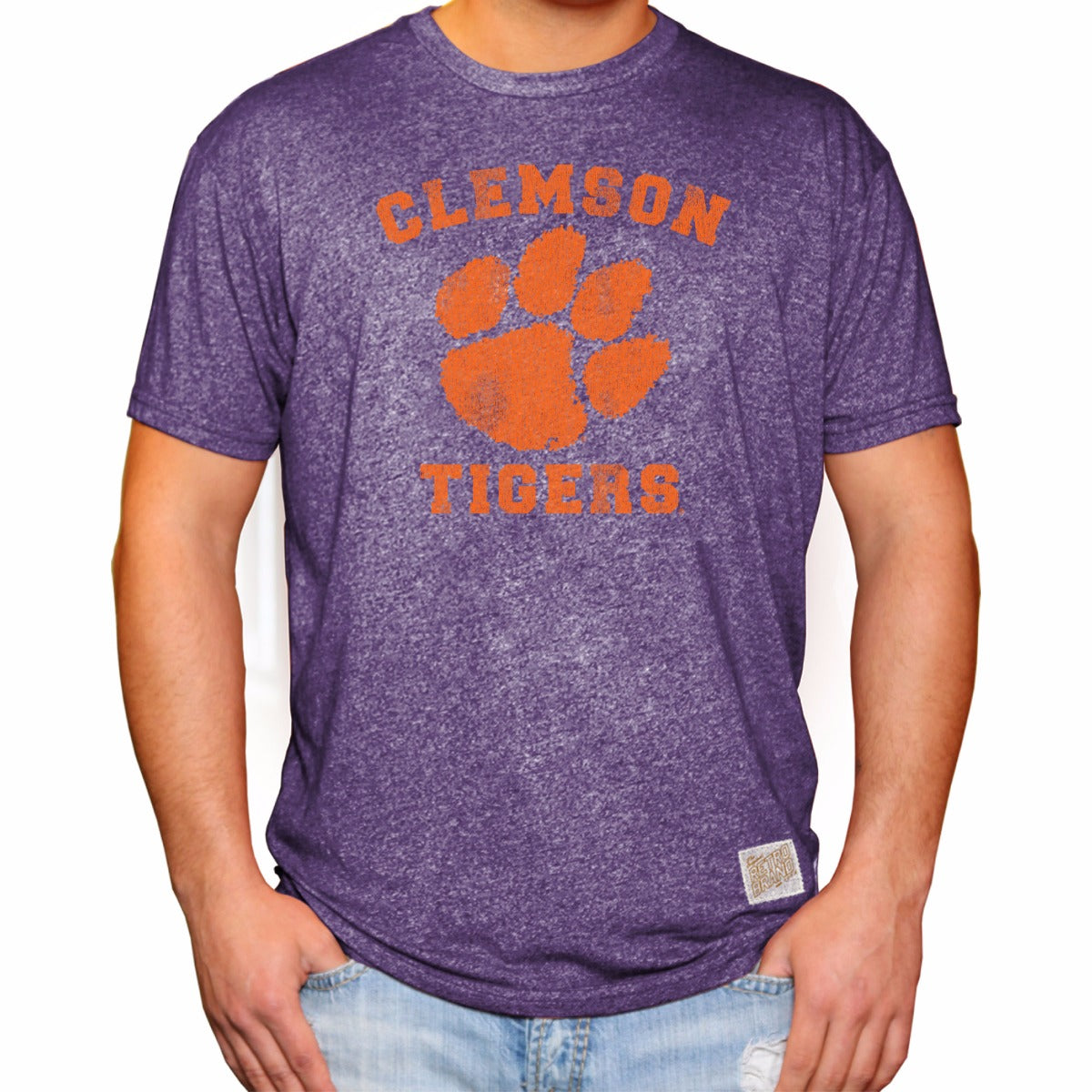 Clemson Tigers Men's Short Sleeve Mock Twist Tee