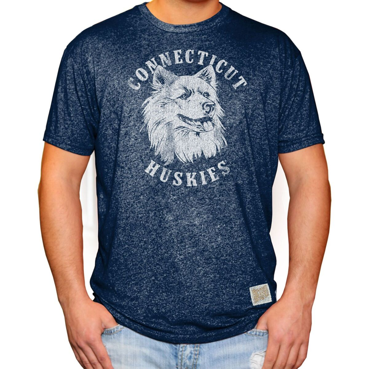 UCONN Huskies Men's Short Sleeve Mock Twist Tee