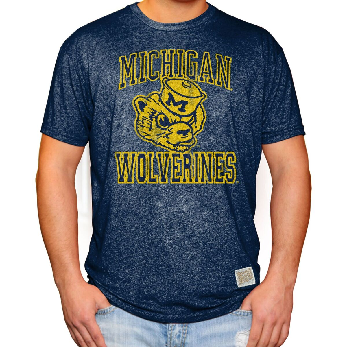 Michigan Wolverines Men's Short Sleeve Mock Twist Tee