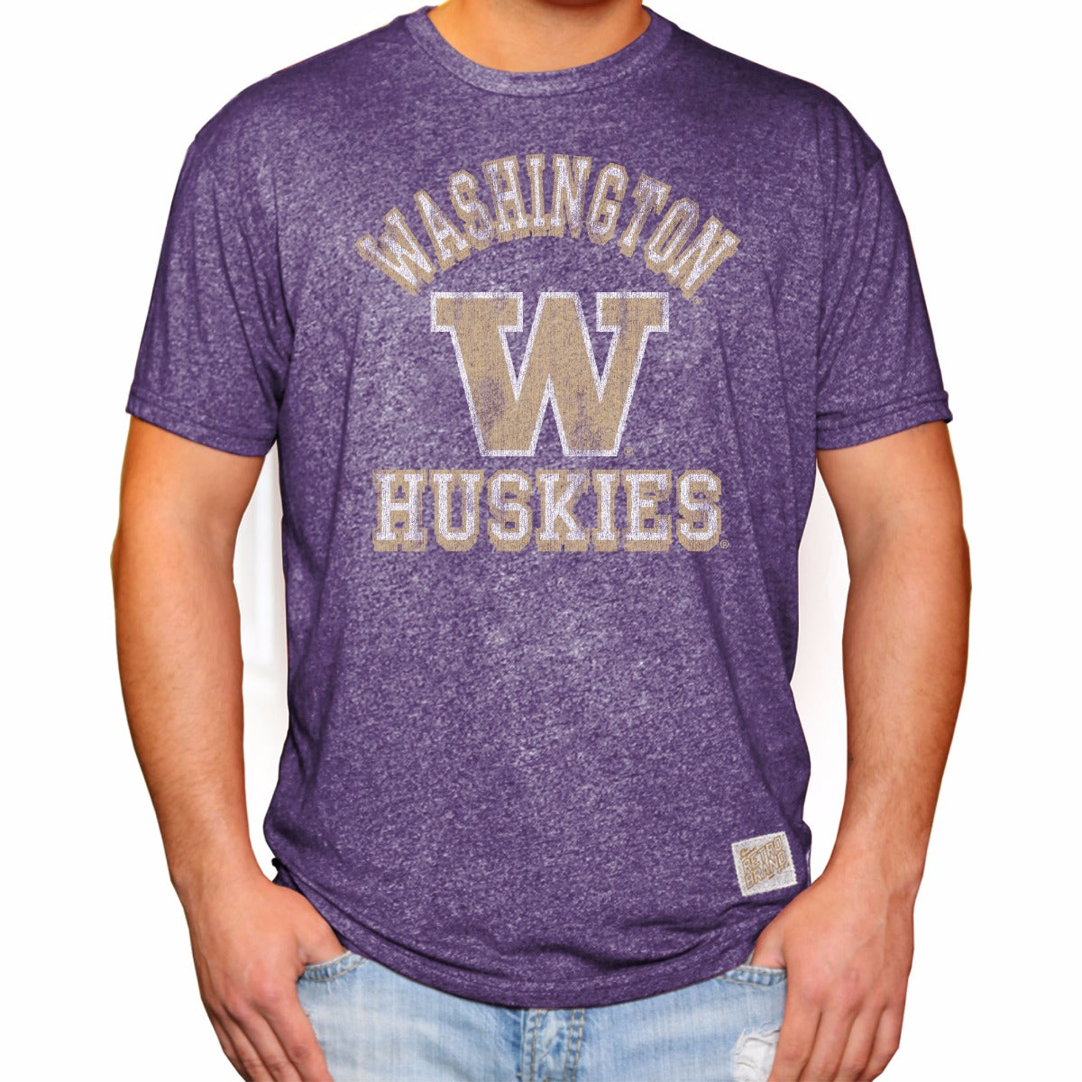 Washington Huskies Men's Short Sleeve Mock Twist Tee