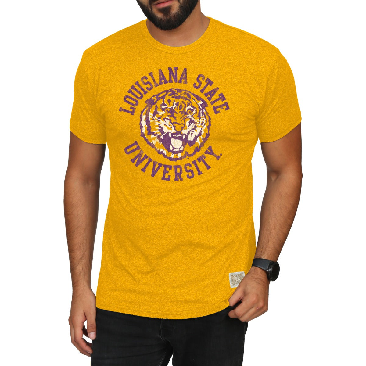 LSU Men's Short Sleeve Mock Twist Tee