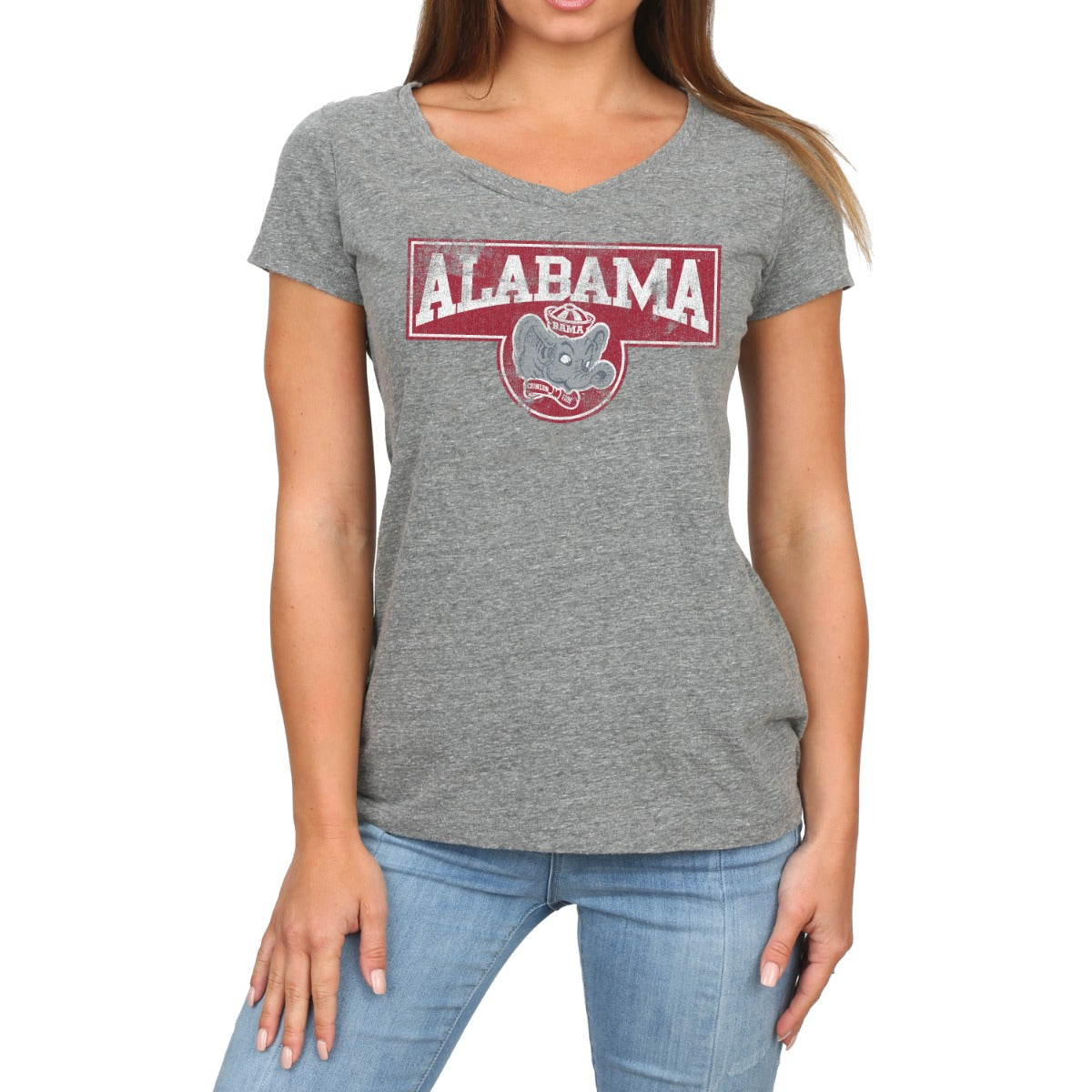 Alabama Women's Short Sleeve V-Neck Vintage Tee
