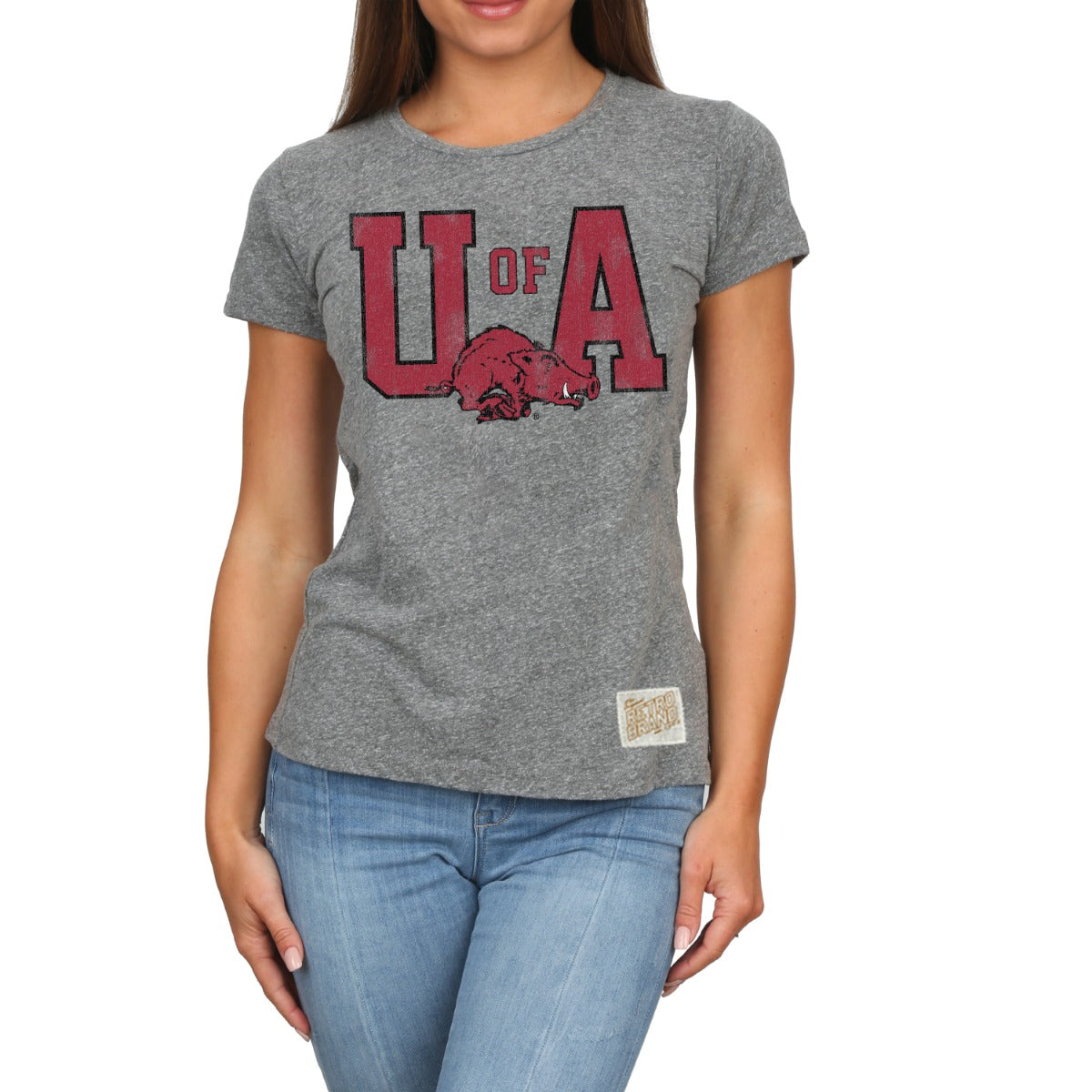 Arkansas Women's Tri Blend Crew Neck Tee