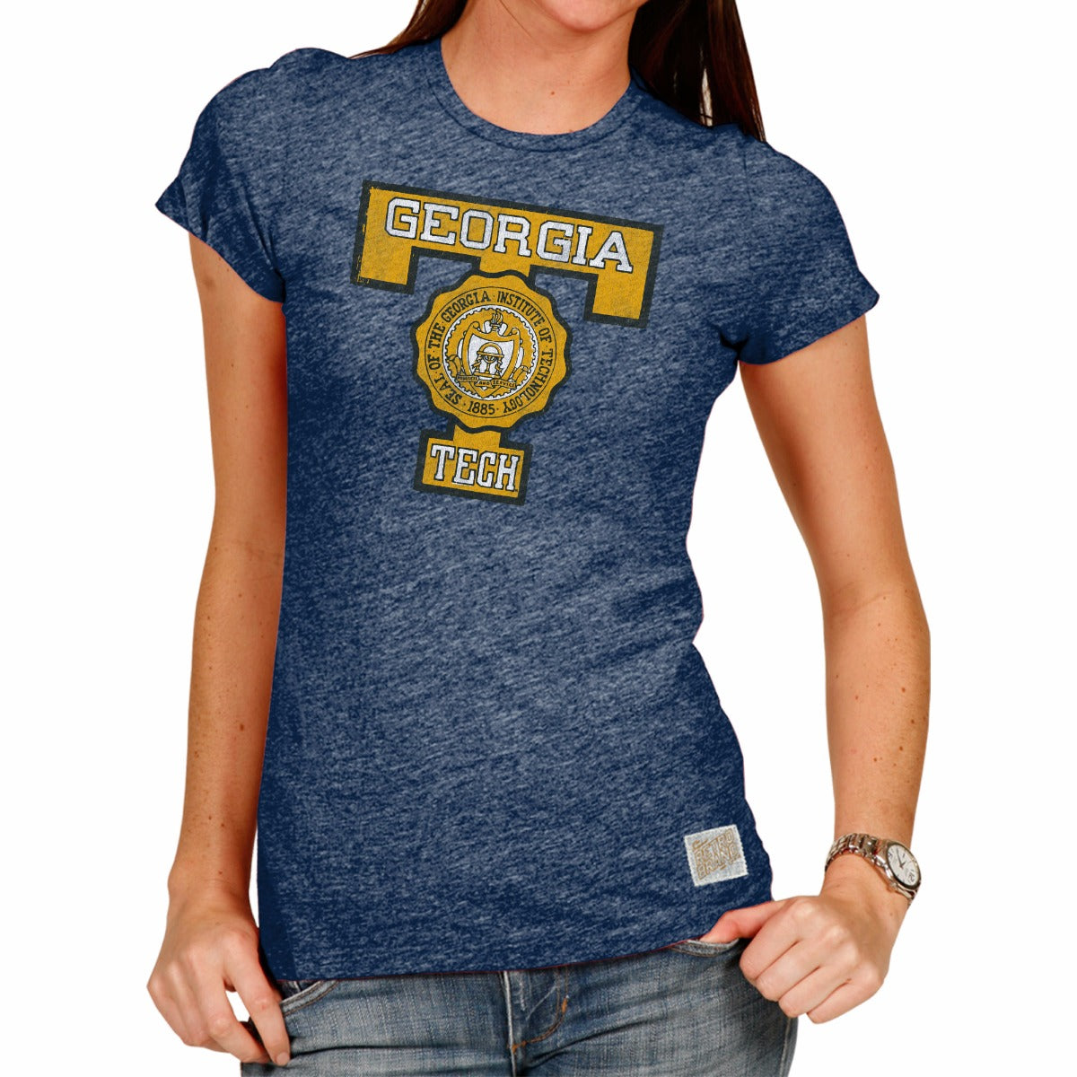 Georgia Tech Yellow Jackets Women's Short Sleeve Vintage Tee