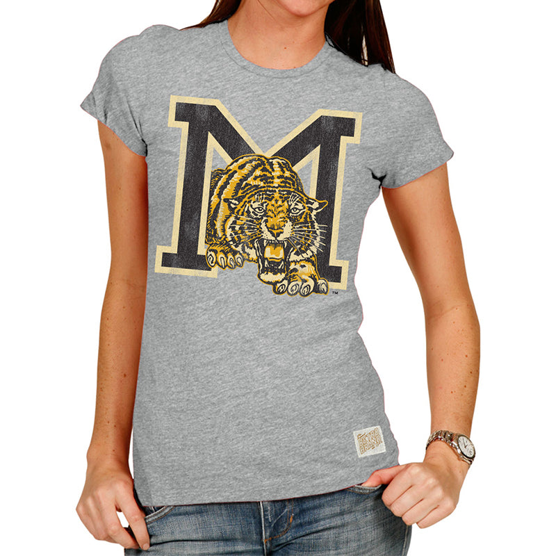 Missouri Tigers M Women's Tri-blend crew tee
