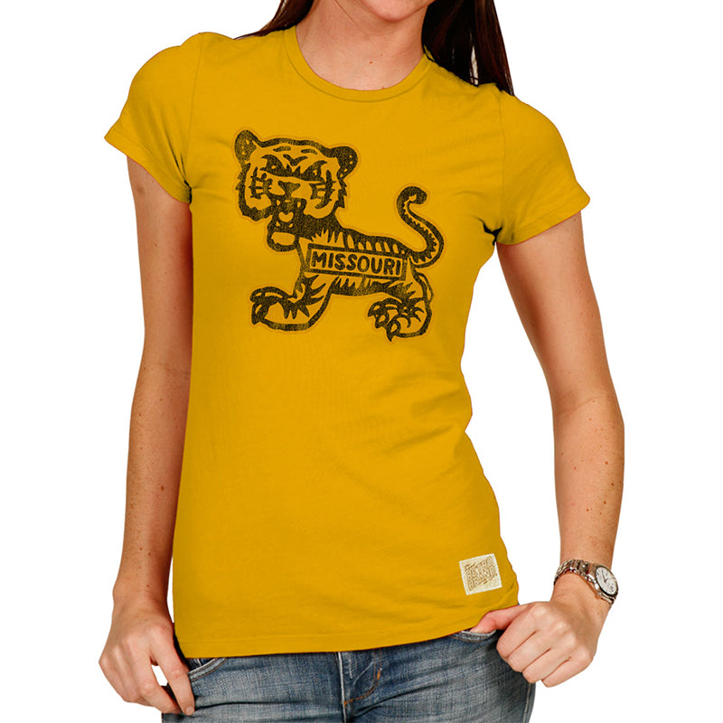 Missouri Truman the Tiger Women's Tri-blend crew tee