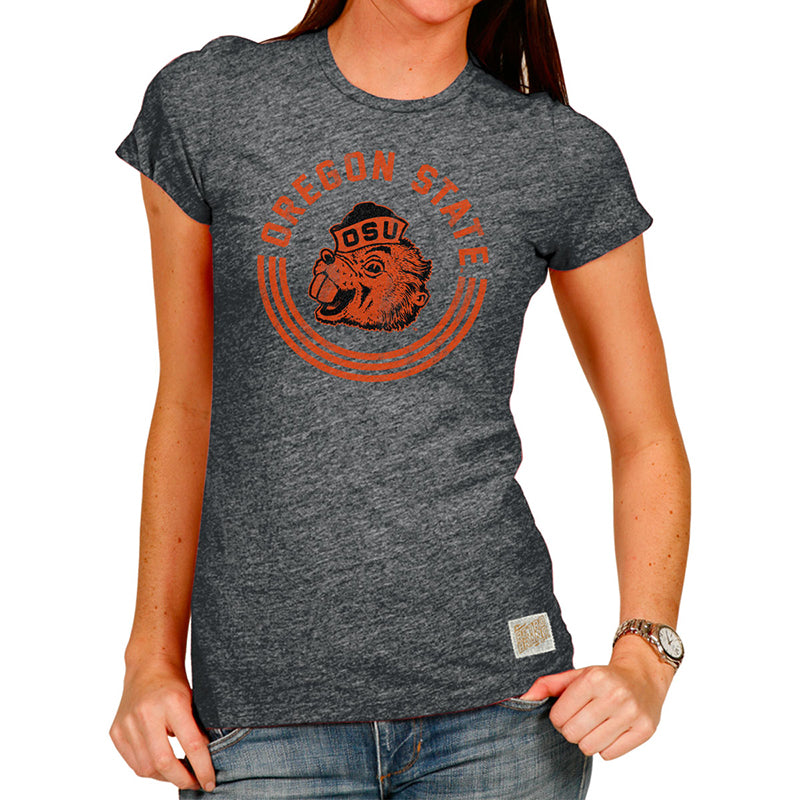 Oregon State Beavers Women's Tri-blend Women's crew tee