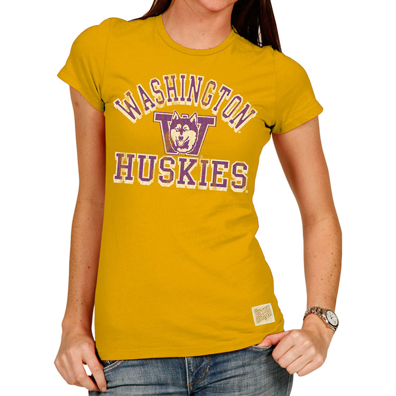 Washington Huskies Women's Tri-blend crew tee
