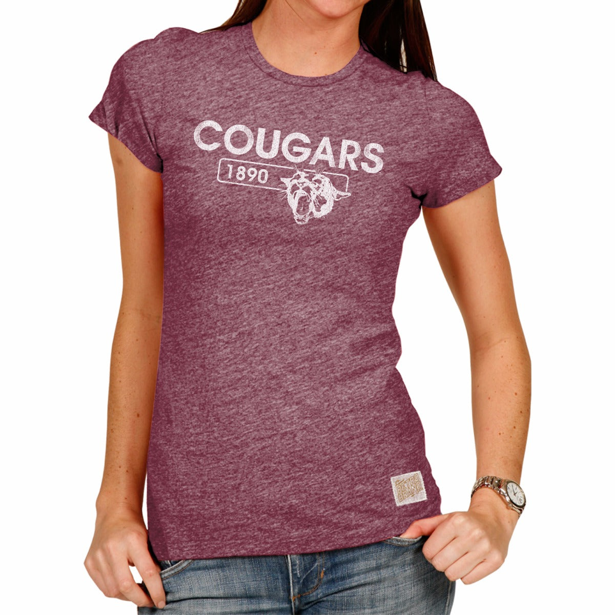 Washington State Cougars Tri-Blend Women's Crew Tee