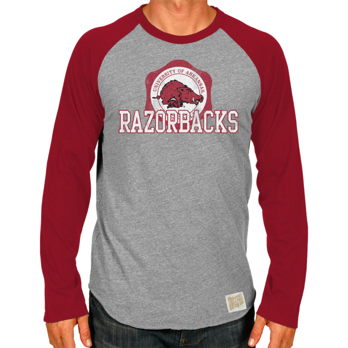 Arkansas Men's Contrast Raglan