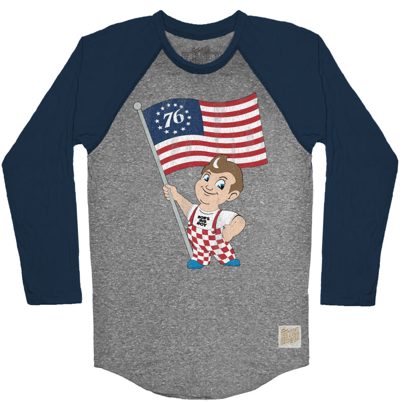 Bob's Big Boy Flag Men's Contrast Raglan