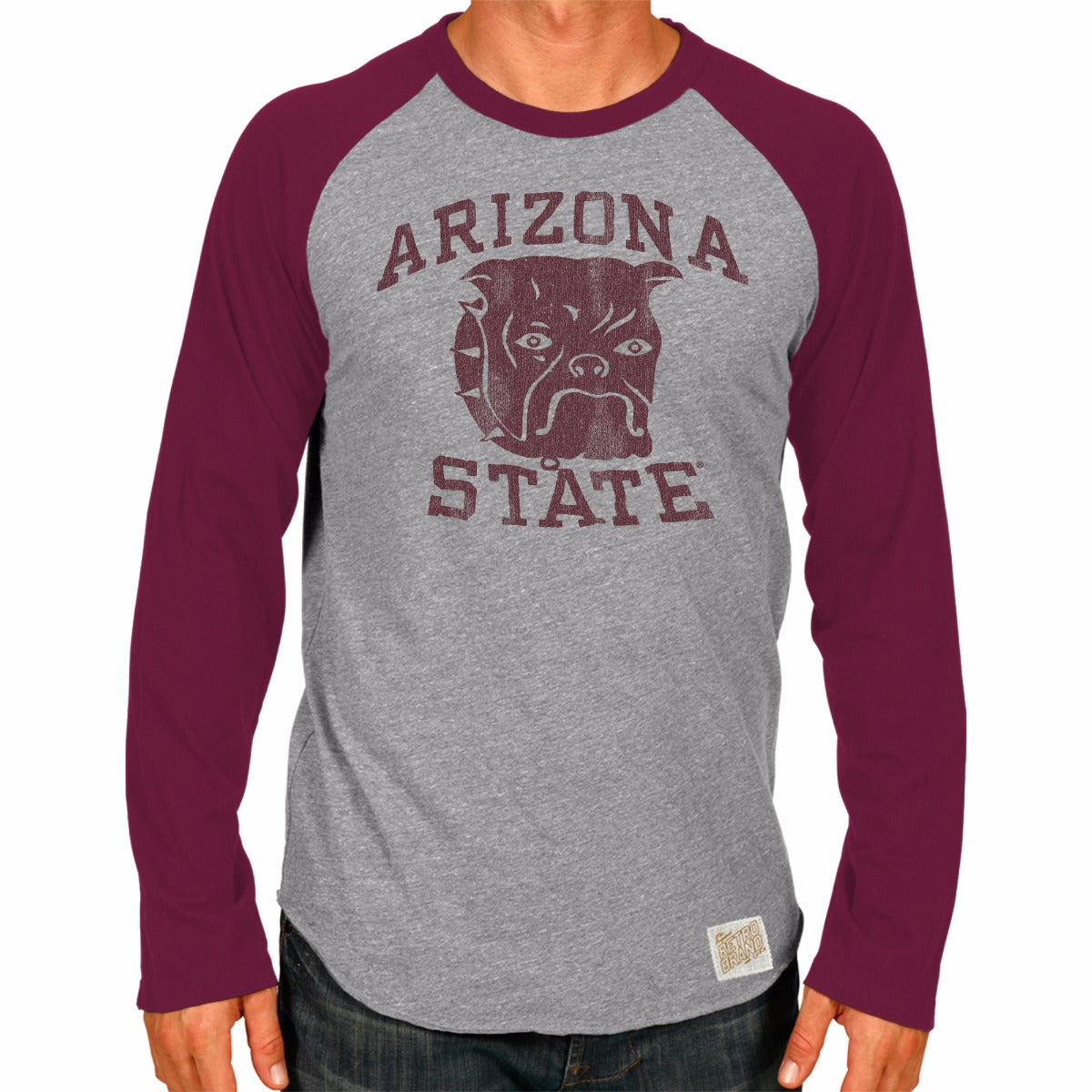 Arizona State Sun Devils Men's Long Sleeve Raglan Baseball Tee