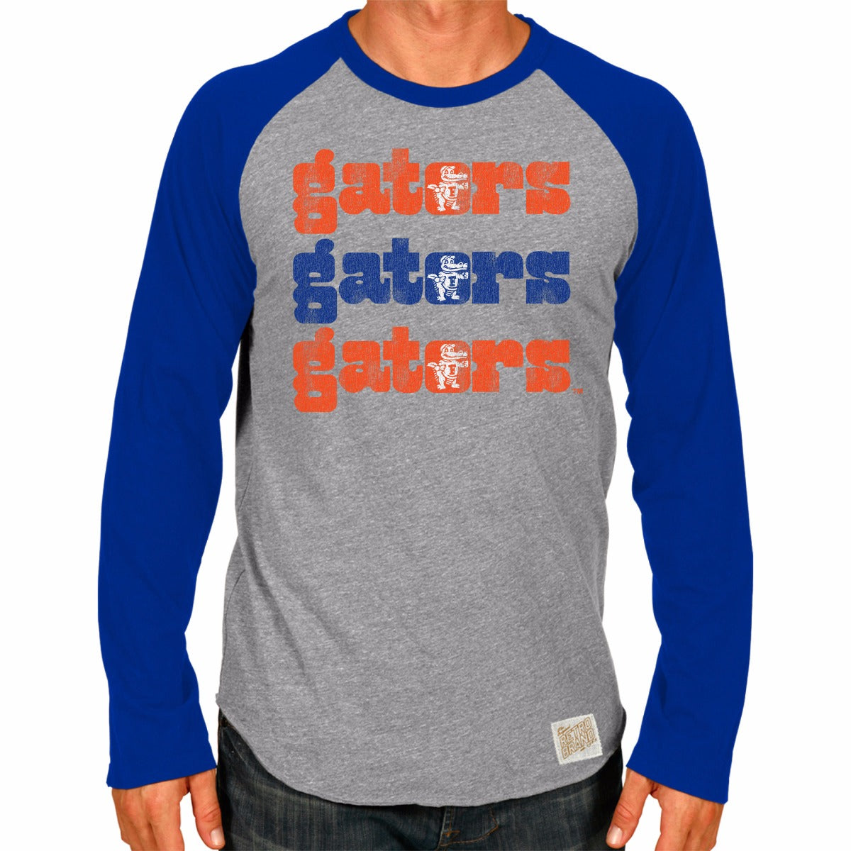 Florida Gators Men's Long Sleeve Raglan Baseball Tee