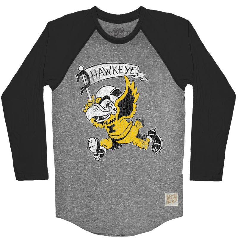 Iowa Men's Contrast Raglan