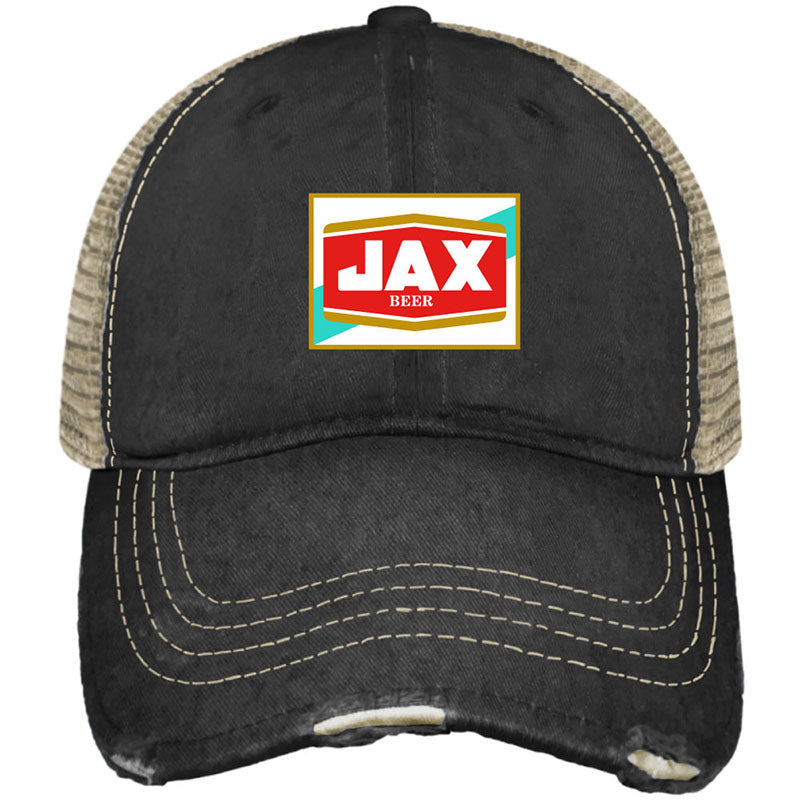Jax Beer Distress Snap Back Trucker Hat