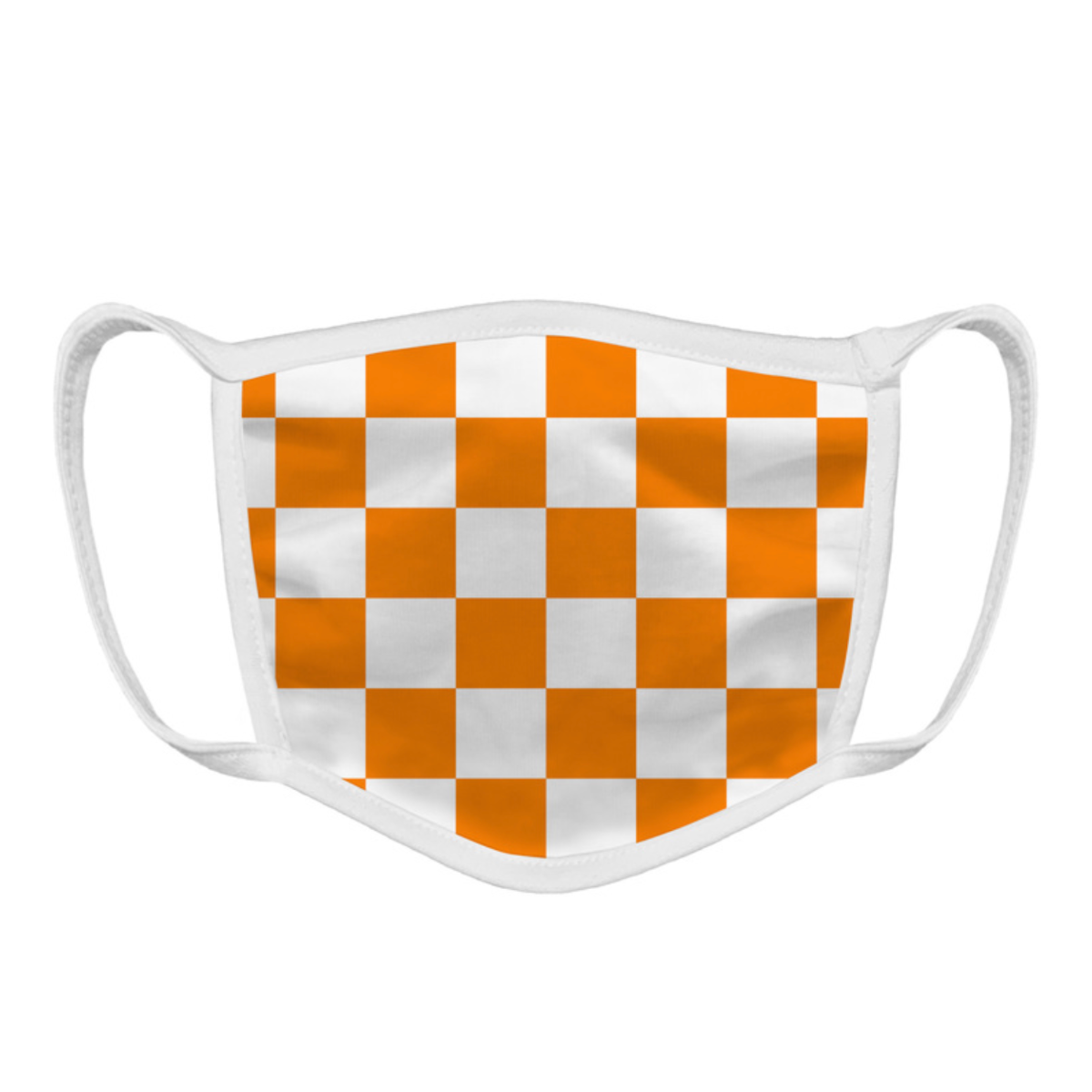 Tennessee Vols Checkerboard Face Mask