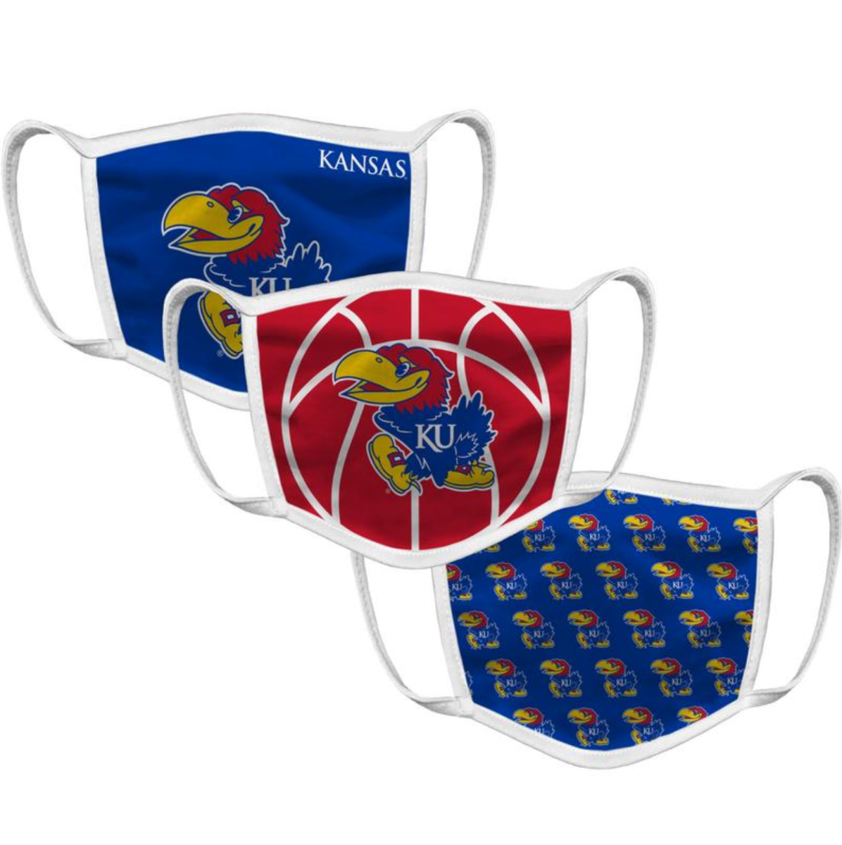 Kansas Face Mask (3 Pack)