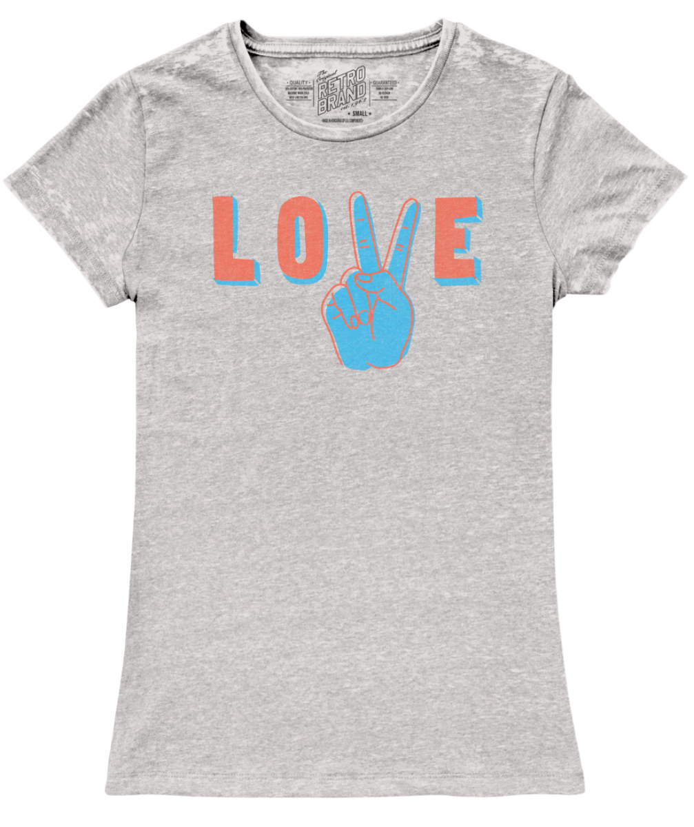 Peace and Love Women's Vintage Crew Tee