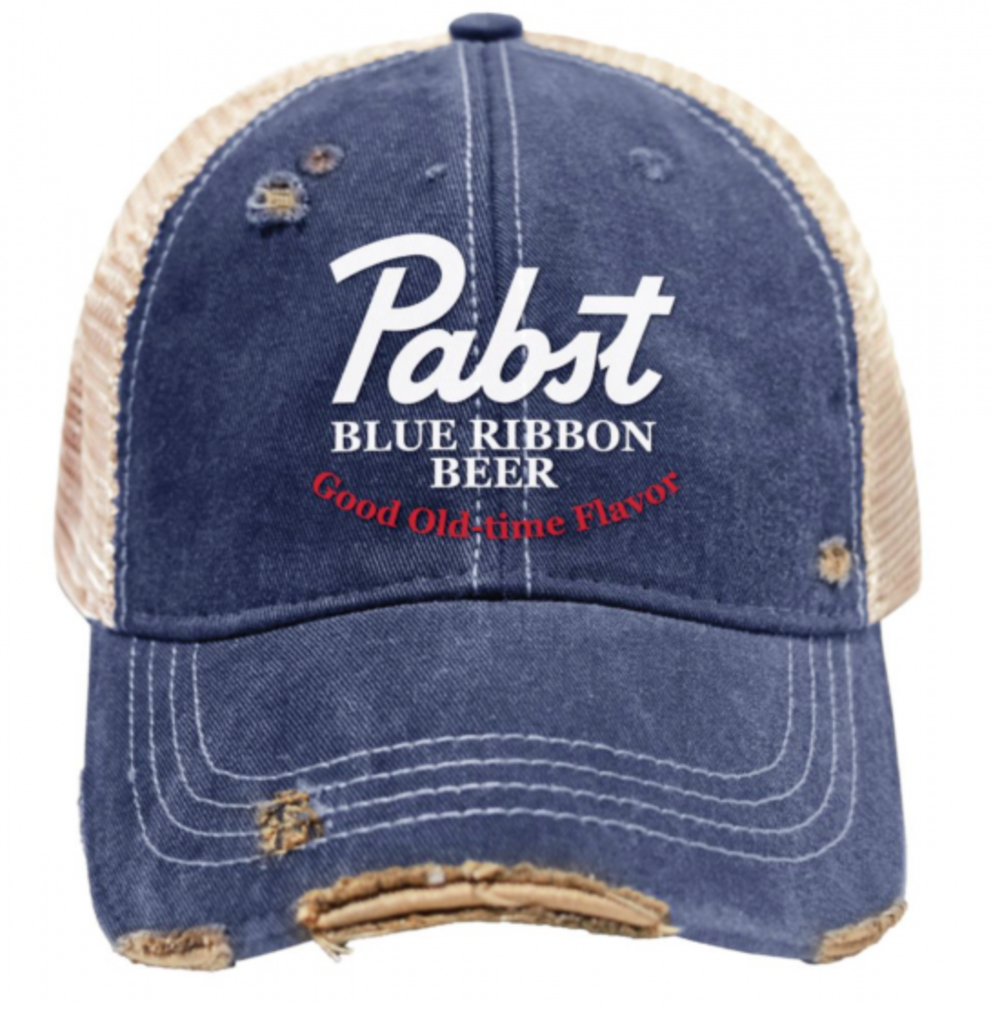Pabst Blue Ribbon Snap Back Trucker's Cap