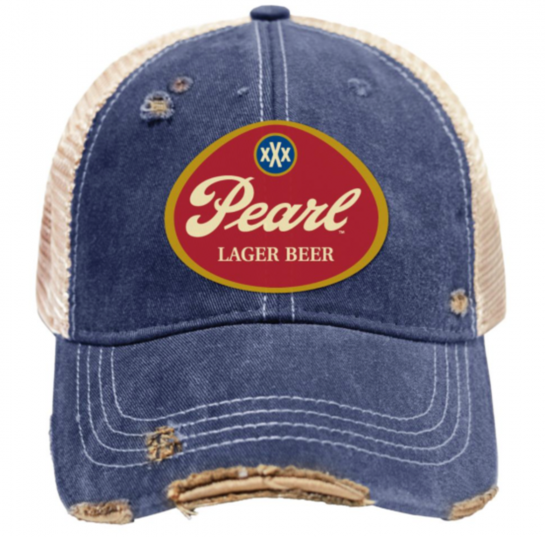 Pearl Lager Vintage Snap Back Trucker's Cap