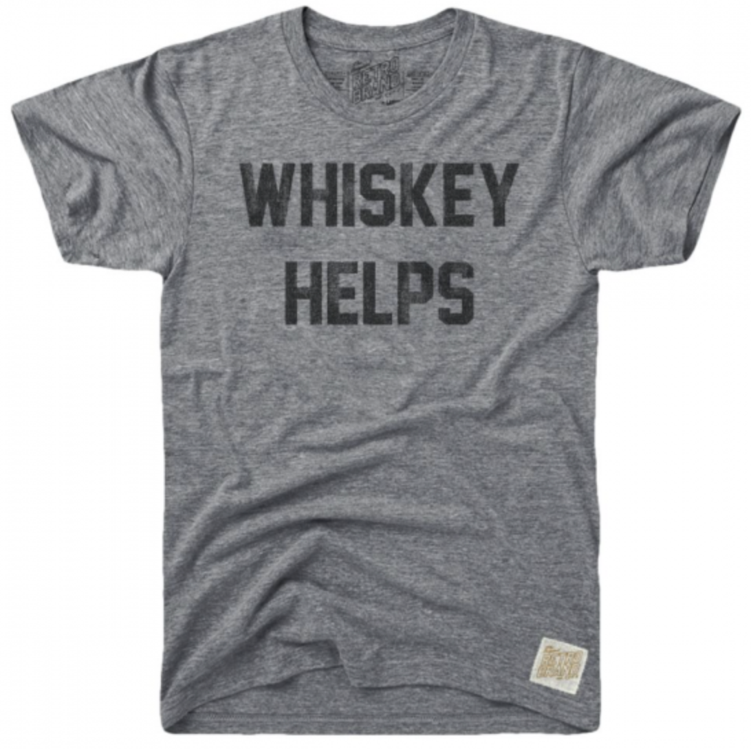 Whiskey Helps Tri-Blend Tee