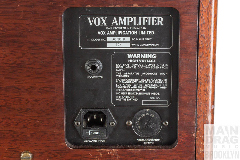 1991 Vox AC30TB Collector's Edition Mahogany