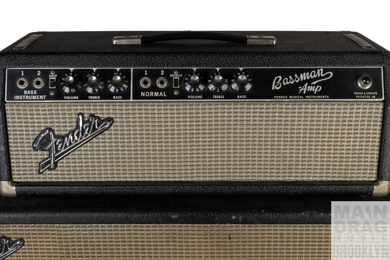 1966 Fender Bassman Amp Head and Cab