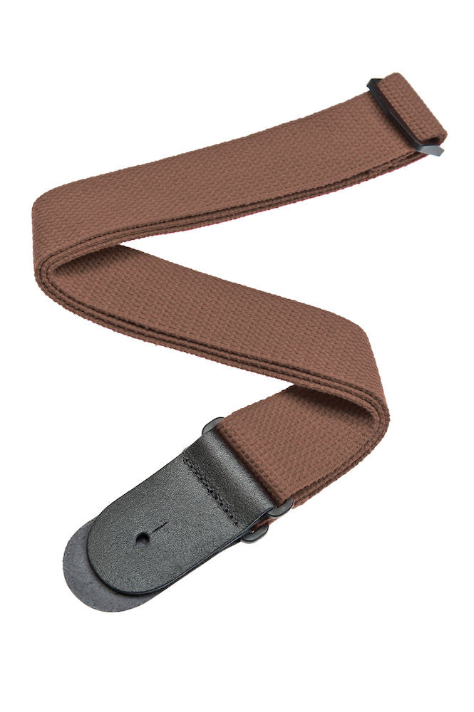 D'Addario Cotton Guitar Strap, Brown
