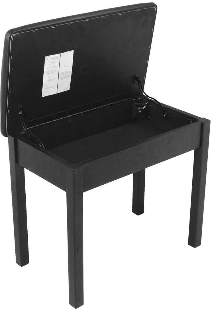 On-Stage Stands Flip-top Keyboard Bench Black
