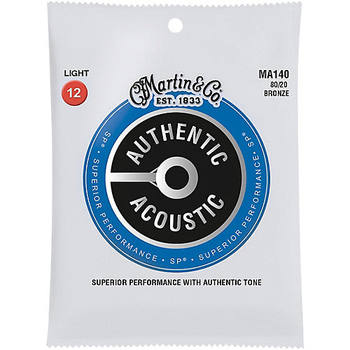 MA140 SP 80/20 Bronze Light Acoustic Strings Martin