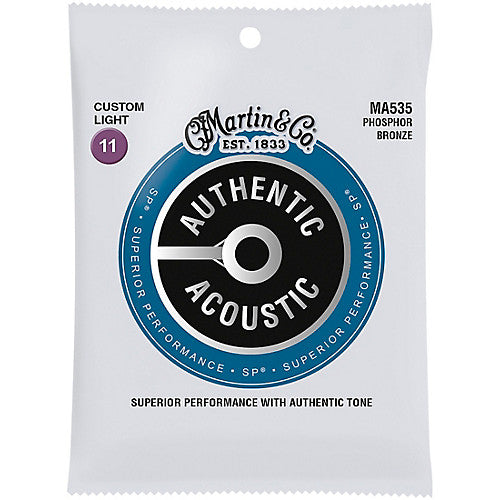 MA535 SP Phosphor Bronze Custom Light Acoustic Strings Martin