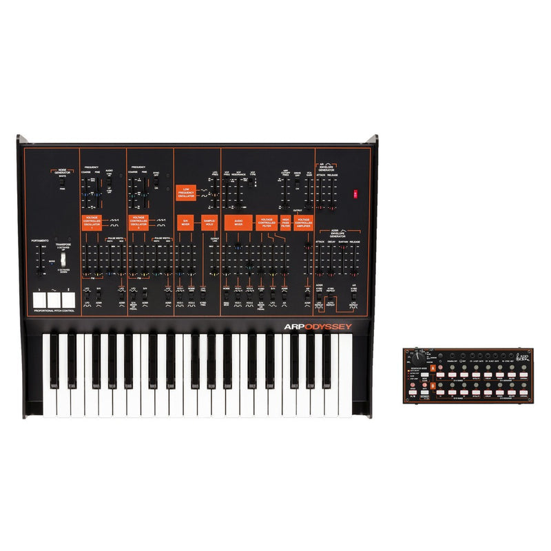 Korg ARP Full Size Odyssey, Black/Orange with SQ1