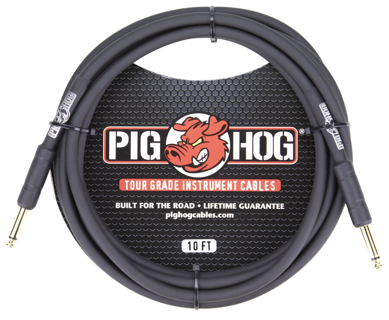 "Pig Hog 10ft 1/4"" -1/4"" 8mm Inst. Cable"